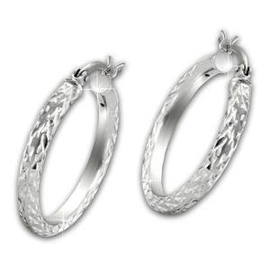 SilberDream Ohrringe Diamant-Cut Damen 925 Silber Creolen ECHT-Schmuck SDO67342