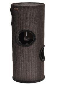 nanook Kratztonne / Spieltonne Oskar schwarz - schwarzer Plüsch 100 x 37 cm