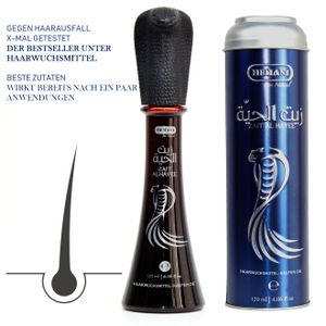 Haarausfall - Haarwuchs Hair Snake Oil Schlangenöl 120ml Hemani Haarwuchsmittel Frauen & Männer Test seit 2015