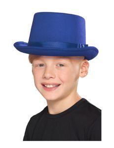 Kinder Kostüm Zubehör Zylinder Hut Karneval Fasching blau