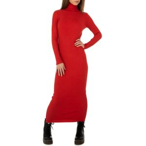 Ital-Design Damen Kleider Strickkleider Rot Gr.l/Xl