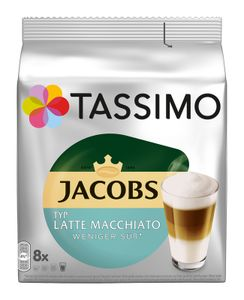 Jacobs Tassimo Latte Macchiato Typ weniger süß 220g (8+8 P.), Kaffeekapseln