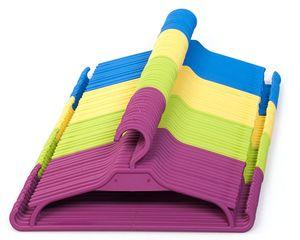 Kinder Kleiderbügel 25 Set Baby Kinderschrank Kinderkleiderbügel (Gelb)