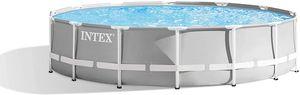 INTEX 26720GN PrismFramePool-Set inkl.Pumpe, Leiter und Planen 427x107cm