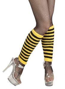 Boland Stulpen Biene Damen 32 cm gelb / schwarz