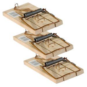 Rattenfalle/Schlagfalle Holz 3 Stück Sparset