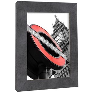 Bilderrahmen Fotorahmen zum aufhängen 50x70 cm Beton MDF London Modern