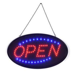 LED Open Geöffnet Schild Leuchte Display Leuchtreklame Leuchtschild Werbung DE