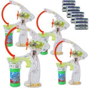 4 Stk. XXL Seifenblasenpistole Bubble Gun Seifenblasenmaschine Pistole Kinder