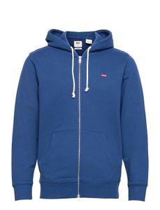 Levis New Original Zip Herren Sweatjacke, Farbe:Blau, Größe:L