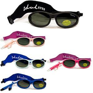 Baby Sonnenbrille Idol Eyes, Farbe:schwarz, Modell:ohne Bügel