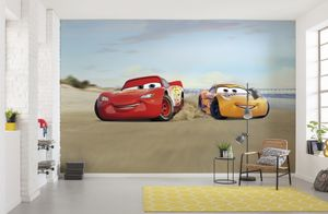 "Disney Fototapete von Komar ""Cars Beach Race"" - Größe 368 x 254 cm, 8 Teile"