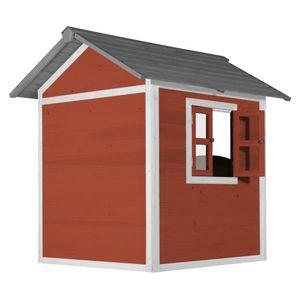 AXI Spielhaus Beach Lodge in Rot   Kleines Spielhaus ausHolz für Kinder   135 x 111 x 133 cm