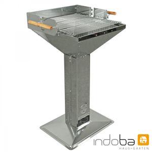 Indoba® Säulengrill Cibus Grill Edelstahl Holzkohle Gartengrill