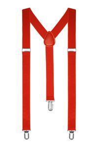 Hosenträger Herren Damen Hosen Träger Y Form Style Clips Schmal Neon Bunt Farbig rot