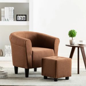 Moderne - Chesterfield-Sessel Sofa Stuhl Braun Stoff