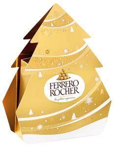 Ferrero Rocher Weihnachtsbäumchen mit einzelnen Pralinen 50g