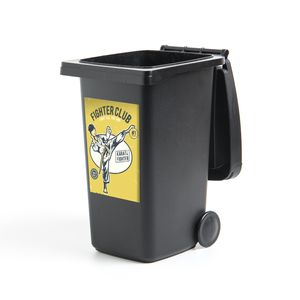 Mülltonnenaufkleber - Karate - Retro - Quote - 40x60 cm