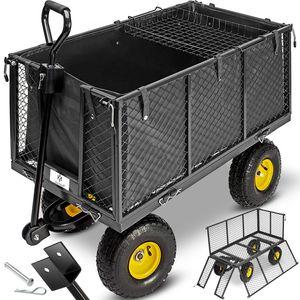 Kesser® Bollerwagen 550kg Transportwagen Gartenwagen Gerätewagen Handwagen NEU, Größe:Bollerwagen 550Kg (Schwarz)