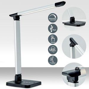LED Schreibtischleuchte dimmbar inkl. 7W 500 Lumen LED-Leuchtmodul 11 Helligkeitsstufen 3 Farbtemperaturen Touch Control schwarz B.K.Licht