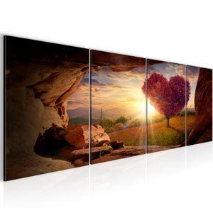 Landschaft BILD 160x50 cm − FOTOGRAFIE AUF VLIES LEINWANDBILD XXL DEKORATION WANDBILDER MODERN KUNSTDRUCK MEHRTEILIG 607646c