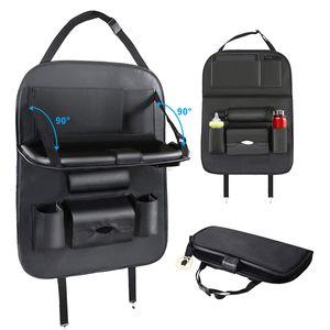 MEIYOU Auto Rückenlehnenschutz Mit Klapptisch  Autositz Rücksitz Organizer mit Tablet/Telefon Taschen für Kinder, Wasserdicht universell