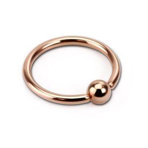 viva-adorno 1,6 x 10 x 4mm Piercing BCR Ball Closure Ring Lippenring Klemmring Edelstahl rosegold in verschiedenen Größen Z419