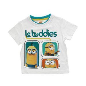 Minions Kinder T-Shirt 'Le Buddies' Weiss, Größe:104