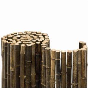 Bambusmatte Black Bambus Sichtschutz 2 x 2 m Ø ca. 20-35mm