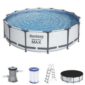Bestway 56950 Rund Aufstellpool Stahl Pro Max 427x107 cmGestalten: Round, Maße: 4 - 4,99 m, Filterpumpe: 58386