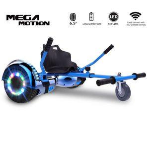 """Hoverboard mit HoverKart Go-kart Elektro Scooter Selbstausgleichender Elektroroller 6.5"""" Segway Geschenk für Kinder und Erwachsene Bluetooth-Lautsprecher LED-Leuchten 700W"""