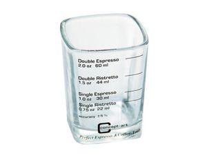 JoeFrex Espressoglas Shotglas eckig 60 ml mit Skalierung Espresso Ristretto