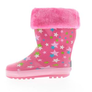 Playshoes Gummistiefel Sterne gefüttert, in pink, Größe 20/21