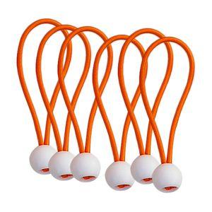 6 Stück Ball Bungee Cords Orange 6 Zoll