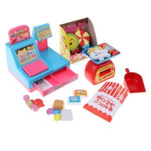 Kinder Candy Store Kasse Pretend Play Set W / Zubehör Weihnachtsgeschenk