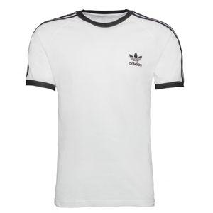 adidas Originals 3-Streifen T-Shirt Herren Weiß (GN3494) Größe: M (48-50)