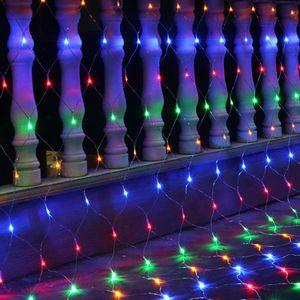 3x2m 196 LED Lichtervorhang Lichternetz Lichterkette Weihnachten Garten Innen Außen@#Bunt