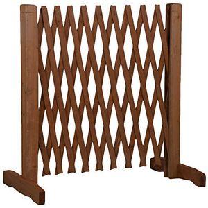 Hundezaun aus Holz, ausziehbare Breite 30-117 cm, freistehendes Absperrgitter für Hunde