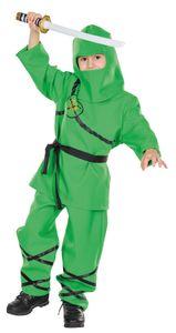 Ninja-Anzug grün, Größe:104