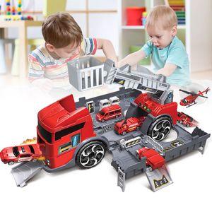 1:24 Kinder Spielzeug LKW Engineer Fahrzeug Feuerwehr Auto Parkhaus Geschenk Stil 2: Feuerwehrauto