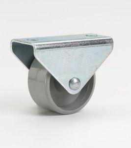 Möbelbockrolle 30x15mm,Gl, Gleitlager, Platte 45 x 20 mm