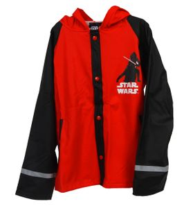 Star Wars Kinder Regenjacke Outdoor Buddel Matsch Jacke Jungen Funktionsjacke, Größe:122/128