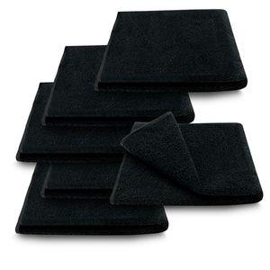 6x ARLI Handtuch schwarz - 100% Baumwolle
