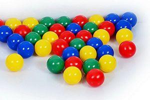 1000 Bällebad Bällebad Bälle 8cm Ø, Babybälle, Kindergarten & Gewerbequalität, klassischer 4 Farben Mix