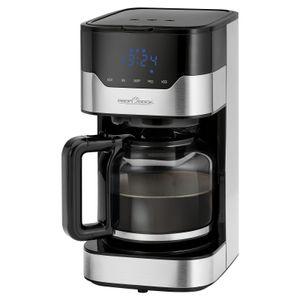 ProfiCook Kaffeautomat PC-KA 1169 für 12-14 Tassen,   Edelstahlgehäuse, elektronische Aromawahlfunktion, Sensor Touch-Bedienung / Touchscreen, 24 Stunden-LED-Digital-Zeitschaltuhr