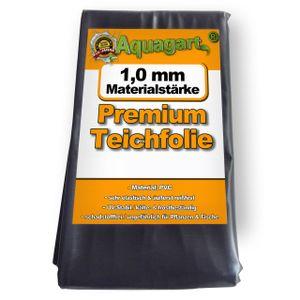 Aquagart Teichfolie PVC 1m x 4m 1,0mm schwarz Folie für den Gartenteich