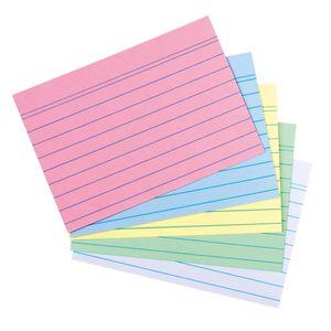 1000 Herlitz Karteikarten DIN A8 / liniert / 5 verschiedene Farben