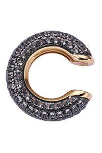 Xenox Damen Ohrschmuck Ear Cuff Ohrklemme Sterling Silber 925 schwarz rhodiniert mit Zirkonia Steinen - Glow XS2042G