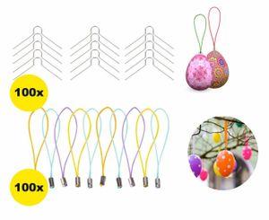 XXL Ostern 200x Set Aufhänger Ostereier Haken für Ostereier Eier Deko Dekoration