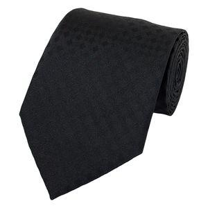 Schlips Krawatte Krawatten Binder 8cm schwarz uni kariert Fabio Farini